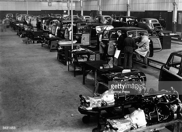 A scene in the Bentley body shop at the Rolls Royce factory Crewe Cheshire