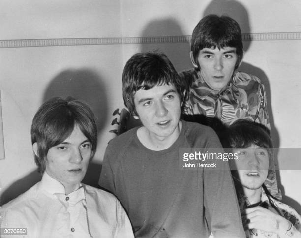 Members of the pop group Small Faces, left to right, Steve Marriott , Ronnie Lane, Ian McLaglan and Kenny Jones