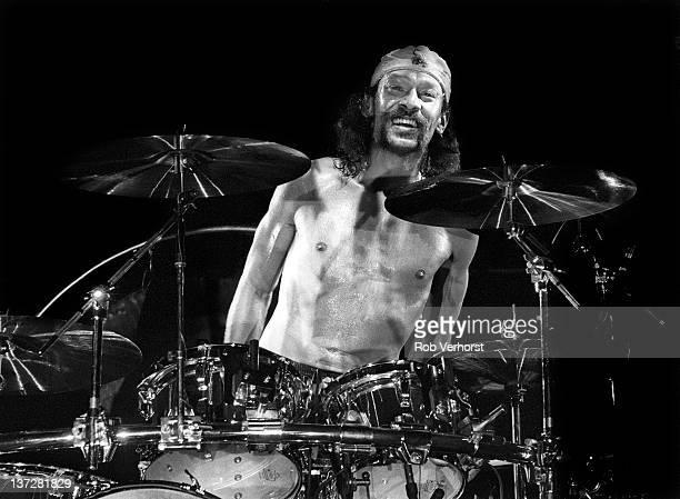 drummer Alex Van Halen from American rock band Van Halen performs live on stage at Ahoy in Rotterdam Netherlands on 13th April 1993