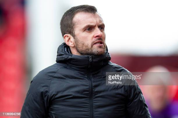 TRENT ENGLAND 13th April Nathan Jones Manager of Stoke City during the Sky Bet Championship match between Stoke City and Rotherham United at the...