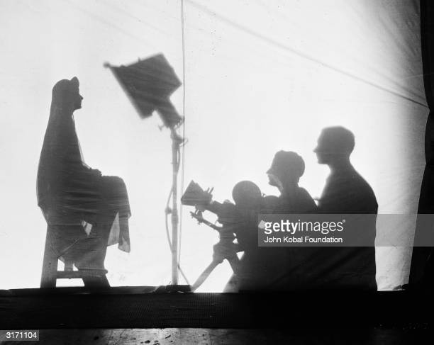 SwedishAmerican actress Greta Garbo as Irene Guarry during filming of the romantic drama 'The Kiss' directed by Jacques Feyder