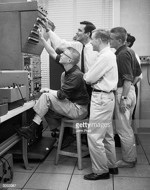 Students in an electrical engineering lesson at the American Ivy League College, Princeton, New Jersey.