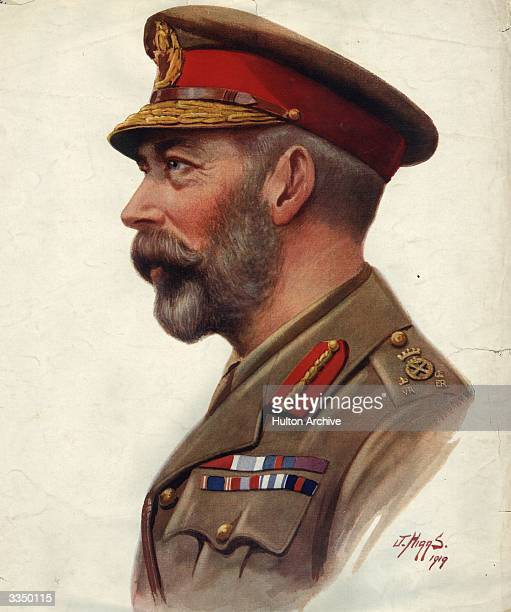 King George V in army uniform Original Publication The Graphic Gentlemen The King pub 1919 Original Artist J Higgs