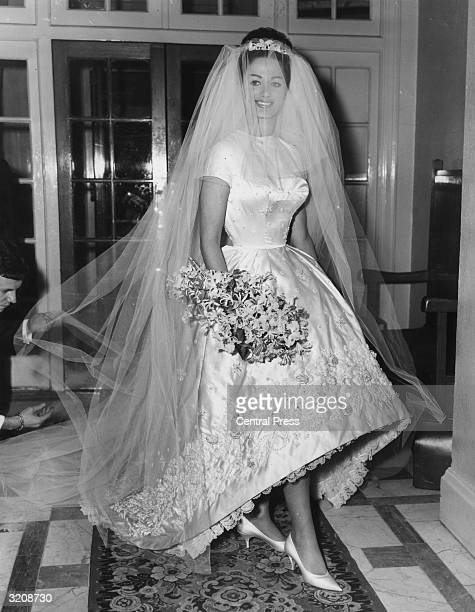 Actress and author Jackie Collins celebrates her marriage to businessman Austin Wallace at Grosvenor House in London after a registry office ceremony...