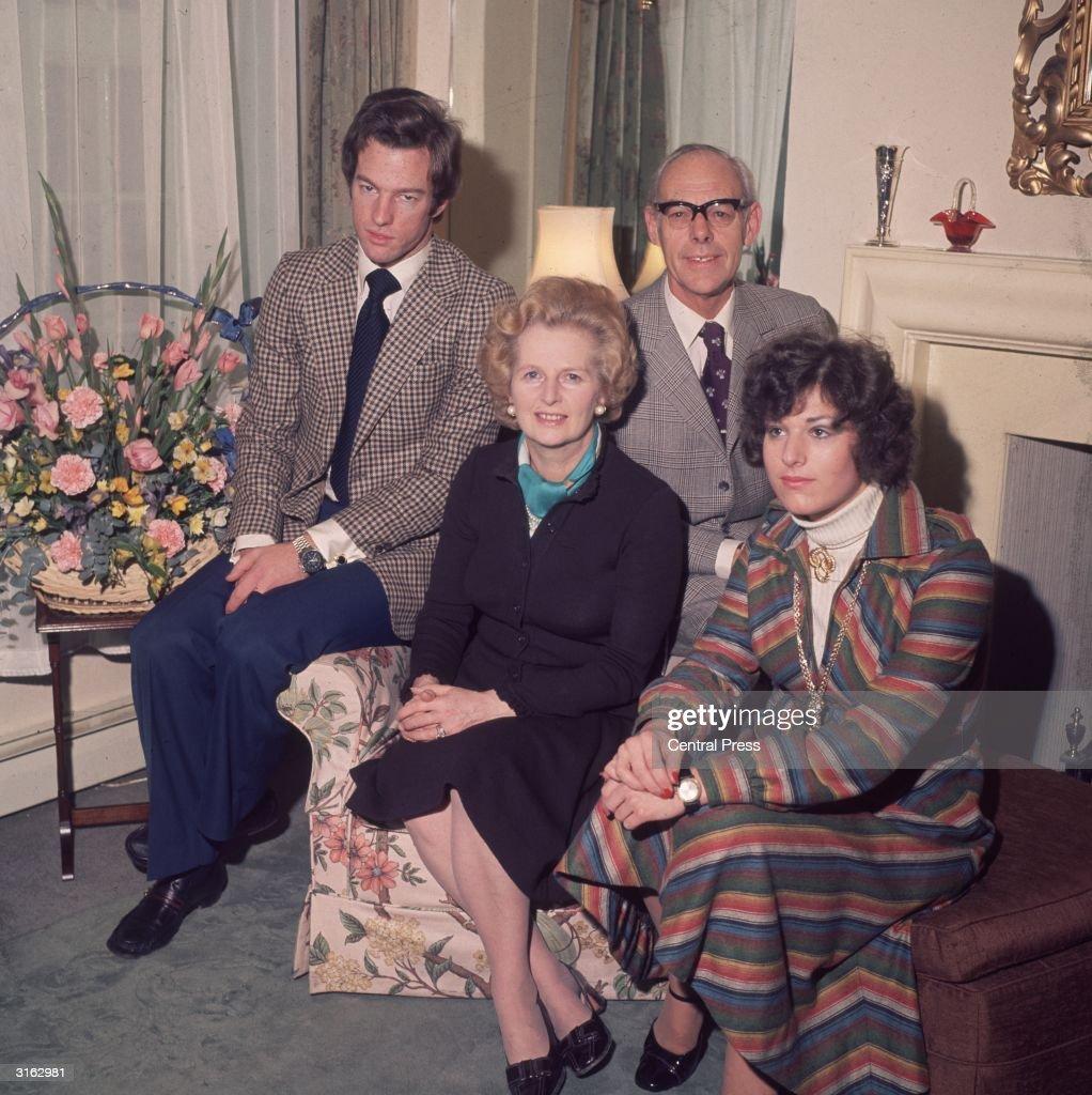 British Prime Minister Margaret Thatcher With Her Husband Denis 1915
