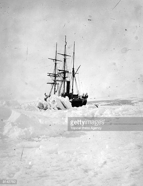The icebound SS 'Terra Nova' used by Captain Robert Falcon Scott on his illfated Antarctic expedtion to the South Pole
