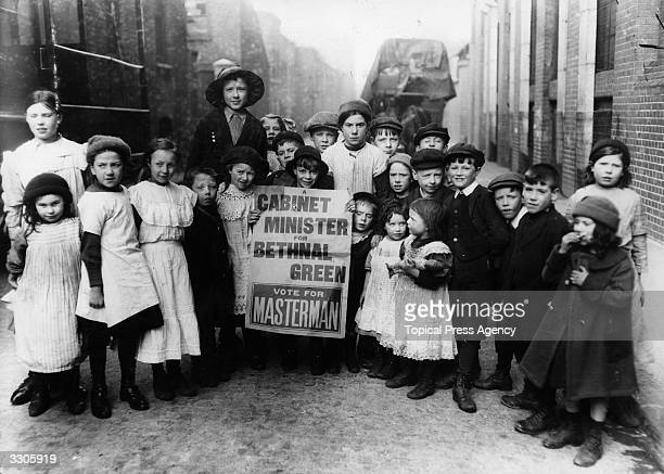 Children campaigning for the Cabinet Minister Masterman during the Bethnal Green By Election