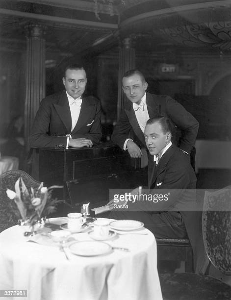 Musicans and comedians John Barney Stuart Ross and Joe Sargent the Three New Yorkers at the Cafe de Paris London