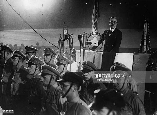 German ViceChancellor Franz von Papen addresses a meeting of the SA the private Army of the Nazi party