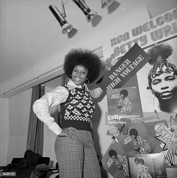 Singer Betty Wright whose single 'Shoorah Shoorah' is at number 29 on the UK pop charts in London to promote her new album