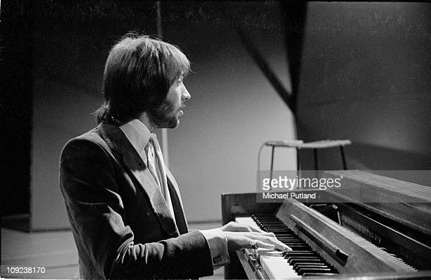 13th FEBRUARY: The Bee Gees perform on Top of the Pops, London, 13th February 1969, Maurice Gibb.