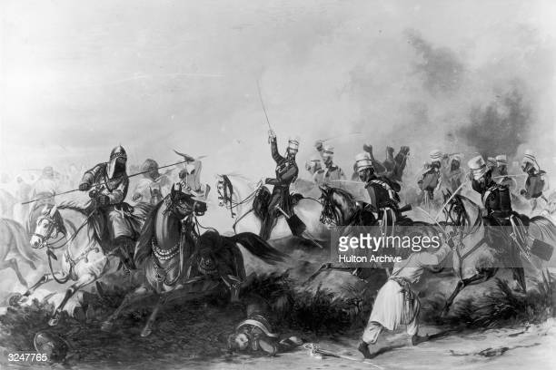 The British take on the Sikhs in the bloody Battle Of Chillianwallah during the 2nd Sikh War