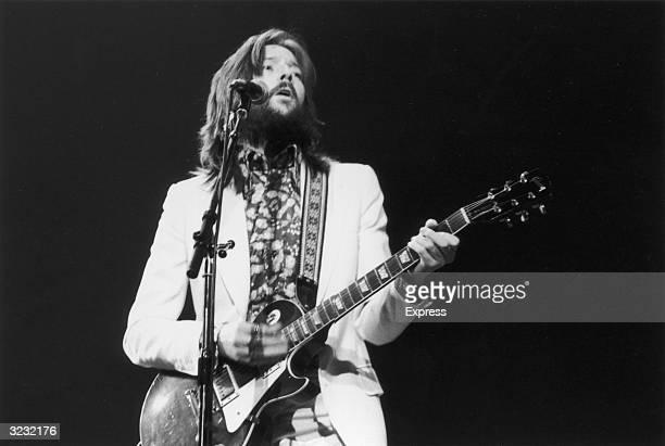 British bluesrock singer and guitarist Eric Clapton in concert at the Rainbow Rooms