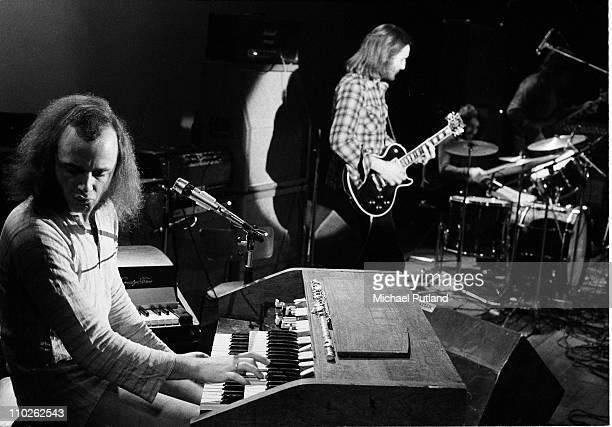 Thijs van Leer and Jan Akkerman of Focus perform on stage at the Edmonton Sundown London 13th January 1973