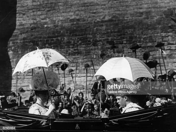 Edward VIII eldest son of George V at his investiture as Prince of Wales at Caerarvon Castle in Wales He ascended the throne in January 1936 and...