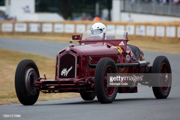 1933 Alfa Romeo 8C 2300 Monza entered by Martin Viessmann and driven by Annette Viessmann at Goodwood on July 13th 2018 in Chichester England