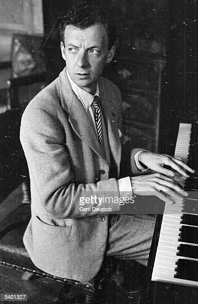 Benjamin Britten Baron Britten of Aldeburgh rehearsing his 'Rape Of Lucretia' in the organ room at the Glyndebourne opera festival Original...