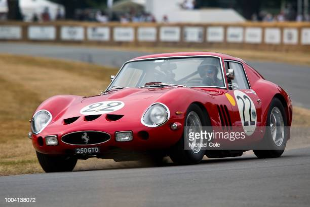 1962 Ferrari 250 GTO entered by Nick Annette Mason and driven by Nick Mason / Nicolas Minassian at Goodwood on July 13th 2018 in Chichester England