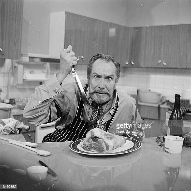 Actor Vincent Price at Thames TV studios in Euston London