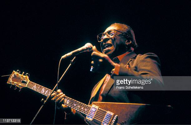 Blues musician Albert King performs live on stage at the North Sea Jazz festival in the Congresgebouw The Hague Netherlands on 13th July 1989