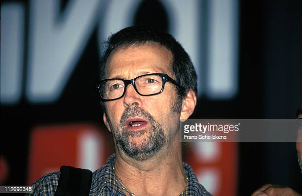 Guitarist Eric Clapton performs at the North Sea Jazz festival in the Congresgebouw in The Hague Netherlands on 13th July 1997