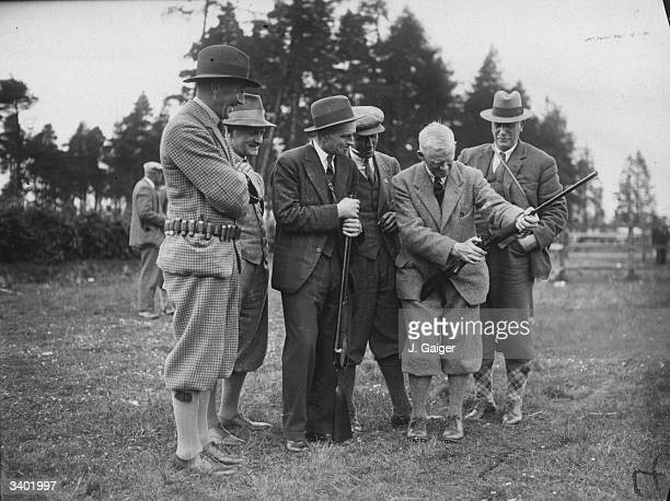 Mr J S Gibson secretary of the Clay Pigeon Association at the Scottish Clay Pigeon Association Championship at Gleneagles Perthshire He is inspecting...