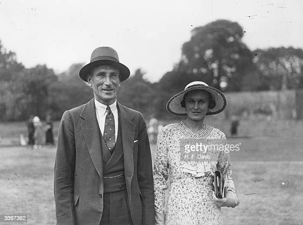 English cricketer Douglas Jardine and his fiancee Margaret Peat in Regent's Park, London.