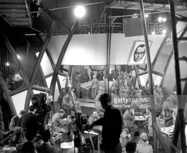 Filming the State Controlled Restaurant for a film adaptation of George Orwell's novel '1984' The film was directed by Michael Anderson for...