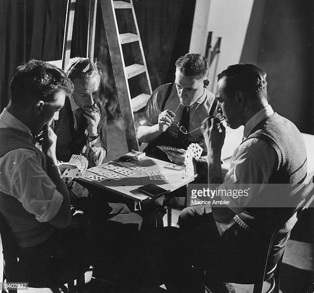 Four men playing a game of bridge The card game was introduced to the United Kingdom in the late 19th century Original Publication Picture Post 8798...