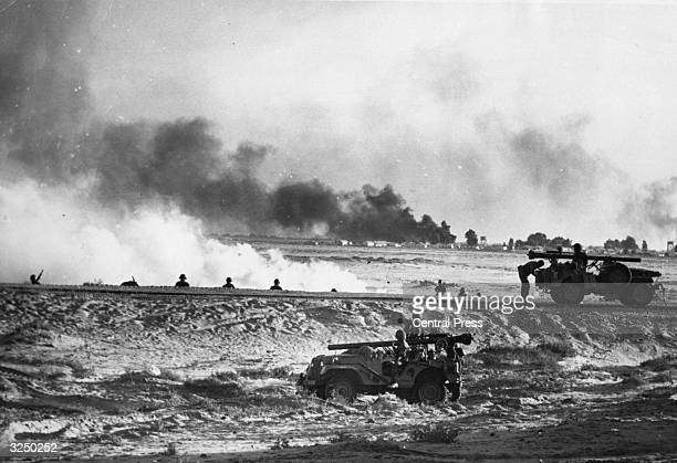 Israeli forces in action near Ismailia during the Six Day Middle Eastern war