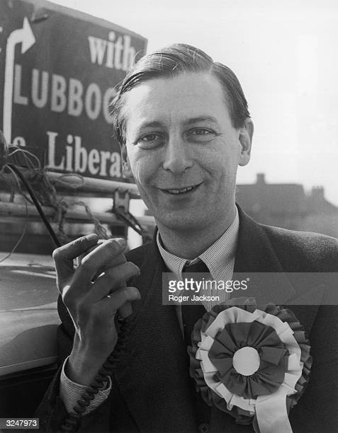 Eric Lubbock canvassing for the Liberal Party before being elected liberal MP for Orpington in Kent.
