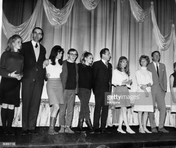 Some of the stars taking part in the Royal Film Performance at the Odeon Leicester Square London on stage for rehearsals L to r Catherine Deneuve...