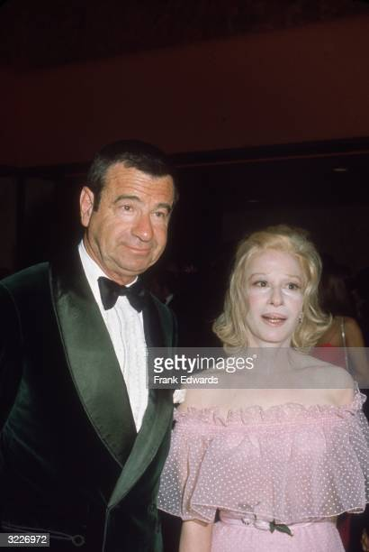 American actor Walter Matthau wearing a tuxedo and his wife Carol Matthau at a James Cagney Tribute at the Century Plaza Hotel Los Angeles California...
