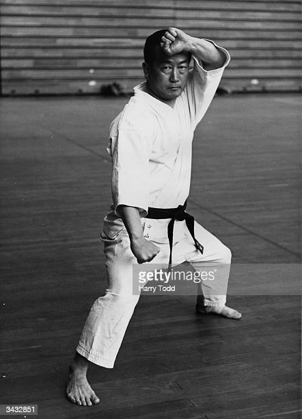 Masatoshi Nakayama an 8th Dan in Karate Chief Instructor of the Japan Karate Association he is on a visit to Britain