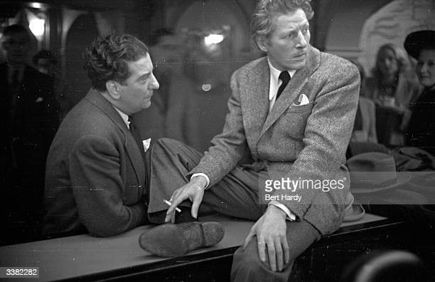 American entertainer Danny Kaye formerly David Daniel Kaminski in London for his performance at the Royal Variety Show Original Publication Picture...