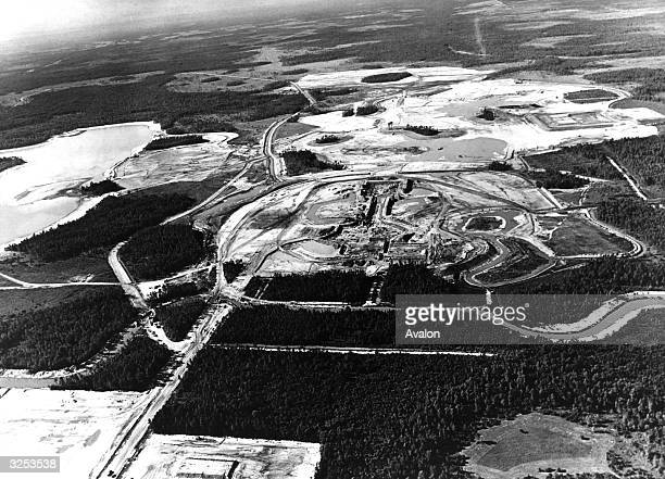 The first phase of Walt Disney World under construction at Orlando Florida Covering 27000 acres it is the world's largest recreation centre