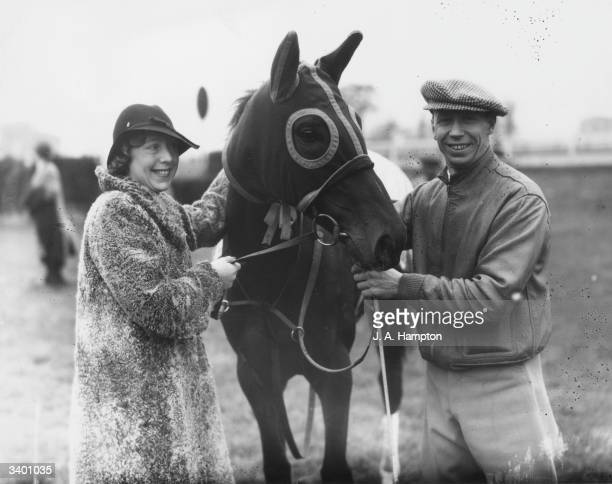Comedian George Formby 91904 1961 who started life as a jockey with his wife and the horse 'Lucky Bert' which he will ride in a hurdle race His fees...