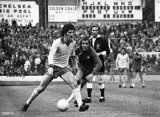 David Johnson in action for Ipswich Town during their match against Chelsea at Stamford Bridge.