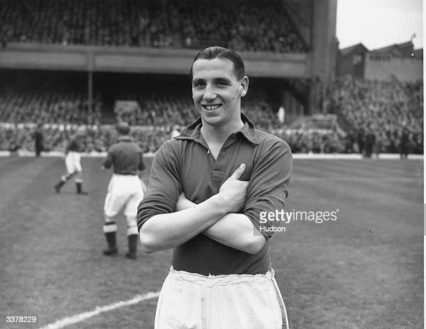 Everton Football Club centre forward Tommy Lawton