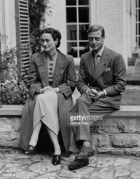 Duke and Duchess of Windsor at their temporary home near Ashdown Forest Sussex after their return from France at the start of WW II The first time...