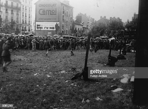 French traitors executed by firing squad in the public square of Grenoble France