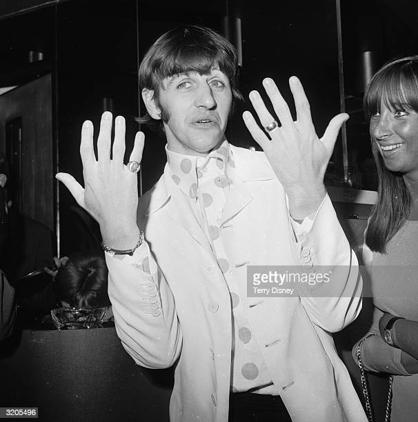 Beatles drummer Ringo Starr at the Melody Maker Pop Poll luncheon in the GPO Tower restaurant