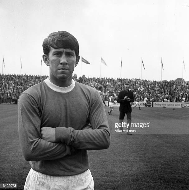 Everton wing half Howard Kendall, who later became manager of Everton.