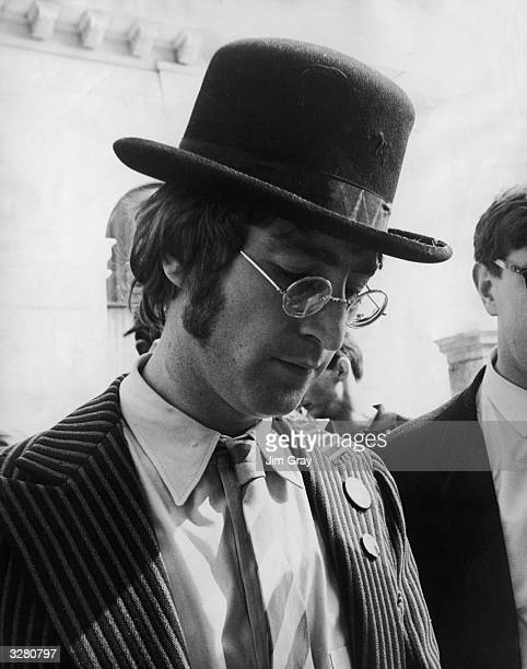 John Lennon signs autographs in Plymouth a short stop off during the filming of 'The Magical Mystery Tour' a 60 minute Beatles spectacular for...
