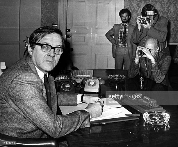 Merlyn Rees former Labour Secretary of State for Northern Ireland becomes Home Secretary in the new cabinet changes replacing Roy Jenkins