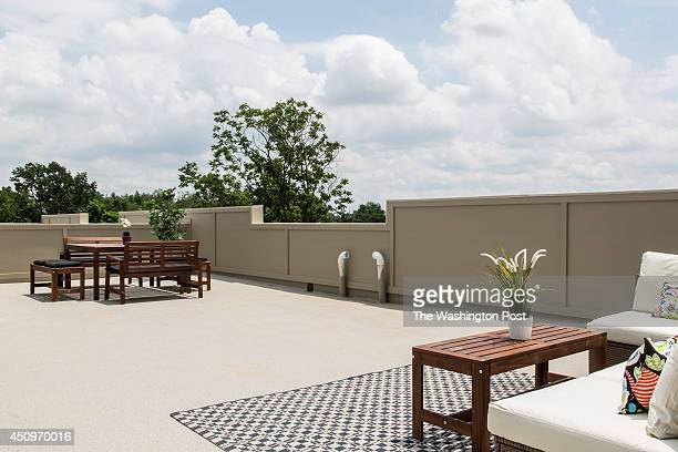The Roof Deck of The Penthouse Model Unit at 610 Condominiums on June 13 2014 in Washington DC