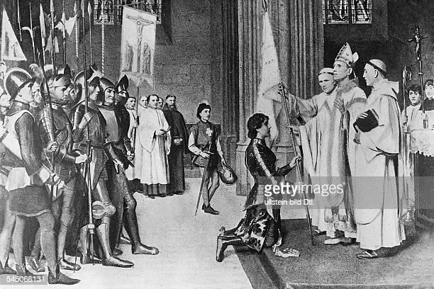 *1410/121431Nationalheldin Frankreichempfängt ihr geweihtes Banner inReims 1429