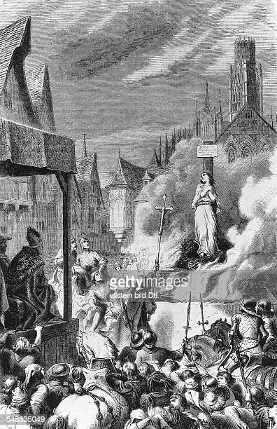 *1410/1230051431Nationalheldin Frankreichauf dem Scheiterhaufen in RouenStich ad 19Jh