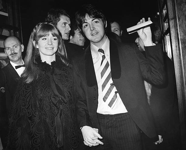 Paul McCartney And Jane Asher At Movie Premier