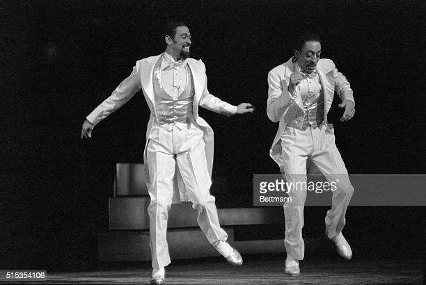 1/4/1982New York NY Maurice Hines joins his brother Gregory in the finale of the smash Broadway musical Sophisticated Ladies at the Lunt Fontanne...